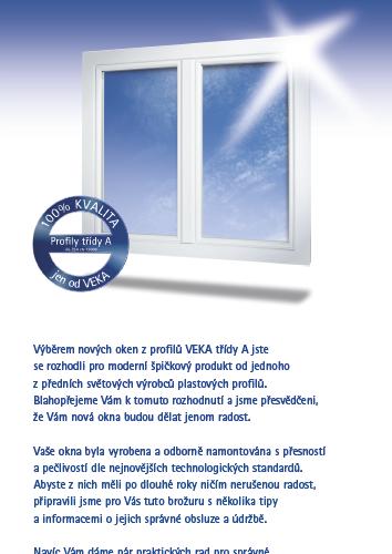 Brožura údržba plastových oken